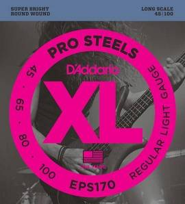 EPS170 ProSteels Комплект струн для бас-гитары, Light, 45-100, Long Scale, D'Addario